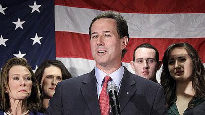 Santorum in Gettysburg
